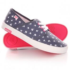 Кеды кроссовки низкие детские Roxy Rg Hermosa G Shoe Navy, 1142146,  Roxy, цвет белый, синий