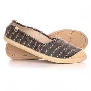 Эспадрильи женские Roxy Flamenco J Shoe Black/White, 1142202,  Roxy, цвет бежевый, серый
