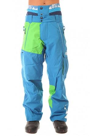 Штаны сноубордические Picture Organic Door Pant Blue/Black Membrane, 1154365,  Picture Organic, цвет голубой, зеленый