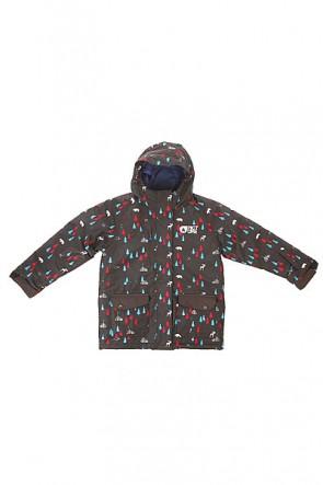 Куртка детская Picture Organic Woody Blackprint, 1154390,  Picture Organic, цвет черный