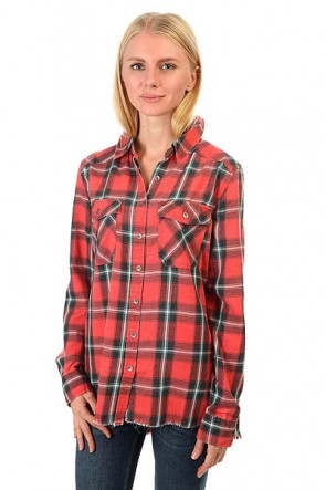 Рубашка в клетку женская Billabong Flannel Frenzy Rad Red, 1158107,  Billabong, цвет красный