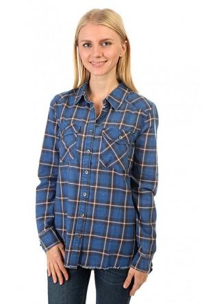 Рубашка в клетку женская Billabong Flannel Frenzy Sapphire Blue, 1158108,  Billabong, цвет синий