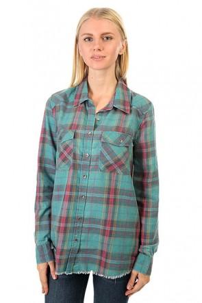 Рубашка в клетку женская Billabong Flannel Frenzy Emerald Bay, 1158109,  Billabong, цвет голубой