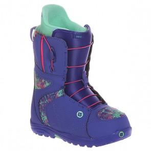 Ботинки для сноуборда женские Burton Mint Purple Print, 1106333,  Burton, цвет зеленый, фиолетовый