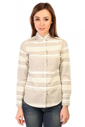 Блузка женская Burton Grace Ls Wvn Texture Stripe, 1138934,  Burton, цвет серый
