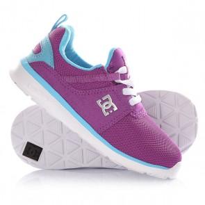 Кроссовки детские DC Heathrow T Purple, 1145082,  DC Shoes, цвет голубой, фиолетовый