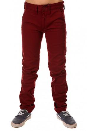 Штаны узкие детские DC Wrk Slm Chno Syrah, 1145223,  DC Shoes, цвет бордовый