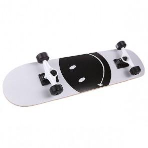 Скейтборд в сборе детский детский Fun4U Smiley Face White/Black 7.5 (19.1 См), 1125070,  Fun4U, цвет белый, черный