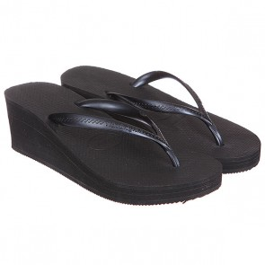 Шлепанцы высокие женские Havaianas High Fashion All Black, 1117423,  Havaianas, цвет черный