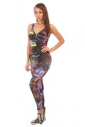 Комбинезон для фитнеса женский CajuBrasil Su Cigarette Multi/Black, 1152122,  CajuBrasil, цвет мультиколор