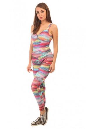 Комбинезон для фитнеса женский CajuBrasil Bojo Estampado Su Pink/Light Blue, 1152125,  CajuBrasil, цвет мультиколор