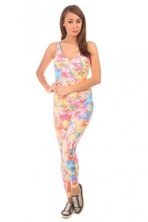 Комбинезон для фитнеса женский CajuBrasil Su Cigarette Multi/Pink/Light Blue, 1152136,  CajuBrasil, цвет мультиколор