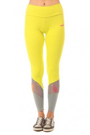 Леггинсы женские CajuBrasil Nz Pozitive Yellow, 1152139,  CajuBrasil, цвет желтый, серый