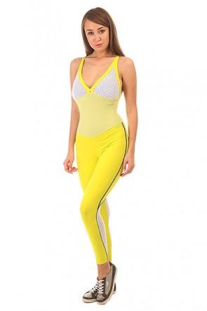 Комбинезон для фитнеса женский CajuBrasil Nz Cigarette Mix Yellow/Navy/White, 1152146,  CajuBrasil, цвет белый, желтый, синий