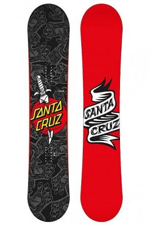 Сноуборд Santa Cruz Tatooed Hand 159 wide Black, 1127906,  Santa Cruz, цвет красный, серый, черный