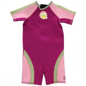 Гидрокостюм детский Roxy Syncro 1.5mm Spring Grey, 1137170,  Roxy, цвет зеленый, розовый, фиолетовый
