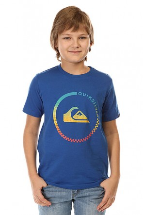 Футболка детская Quiksilver Active Check Tees Turkish Sea, 1142395,  Quiksilver, цвет синий