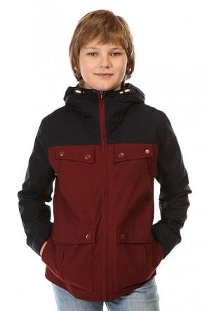 Куртка детская Quiksilver Seashore Yout Jckt Port, 1142434,  Quiksilver, цвет бордовый, синий