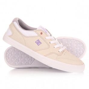 Кеды кроссовки низкие женские DC Argosy Vulc White/Amazon, 1149597,  DC Shoes, цвет бежевый