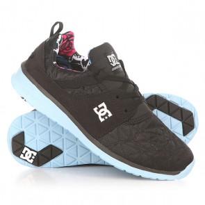Кроссовки женские DC Heathrow X Tr Black Print, 1152256,  DC Shoes, цвет черный