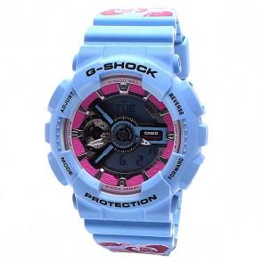 Часы женские Casio G-Shock Gma-s110f-2a Blue/Rose, 1124939,  Casio G-Shock, цвет голубой, розовый