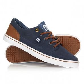 Кеды кроссовки низкие женские DC Tonik W Se Blue/Brown/White, 1156678,  DC Shoes, цвет синий