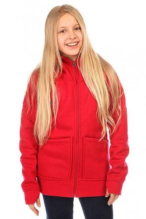 Толстовка сноубордическая детская Burton Journey Flc Chili Pepper Heather, 1137210,  Burton, цвет бордовый