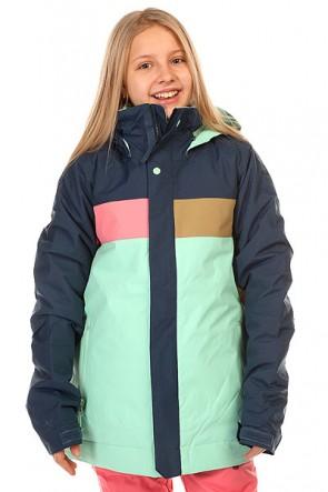 Куртка детская Burton Piper Jk Submrn/Sweetpea Cmb, 1137217,  Burton, цвет голубой, коричневый, розовый, синий