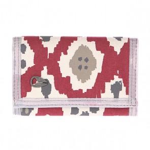 Кошелек Nixon Tree Hugger Tri-fold Wallet Ikat, 1110037,  Nixon, цвет бежевый, бордовый
