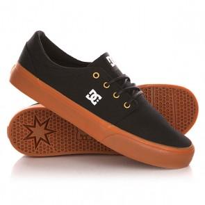 Кеды кроссовки низкие DC Trase Tx Shoe Black/Gold, 1142524,  DC Shoes, цвет черный