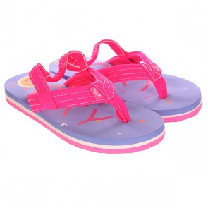 Шлепанцы детские Roxy Tw Vista Sndl Light Blue, 1142540,  Roxy, цвет розовый, синий