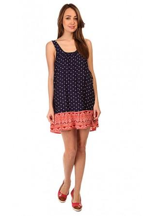 Платье женское Roxy Shadow Small Gypsy Micro, 1145326,  Roxy, цвет оранжевый, синий