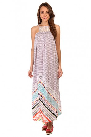 Платье женское Roxy Lost Bohemian Lost Bohemian Dress, 1145327,  Roxy, цвет белый, фиолетовый