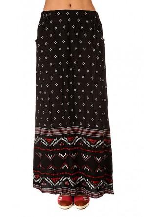 Юбка женская Roxy Solida Big Gypsy Border Plt, 1145357,  Roxy, цвет черный
