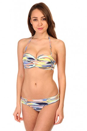 Купальник женский Roxy Twisted Bandeau Pattern New Com, 1145358,  Roxy, цвет мультиколор