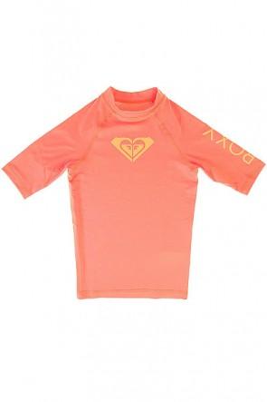 Гидрофутболка детская Roxy Whole Heart Sunkissed Coral, 1145386,  Roxy, цвет розовый