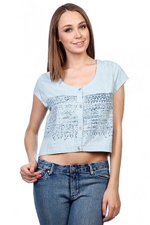 Рубашка женская Insight West Crescent Shirt Mid Blue Denim, 1065917,  Insight, цвет голубой