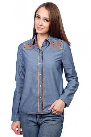 Рубашка женская Insight Napier Shirt 70'S Mid Blue, 1065924,  Insight, цвет синий