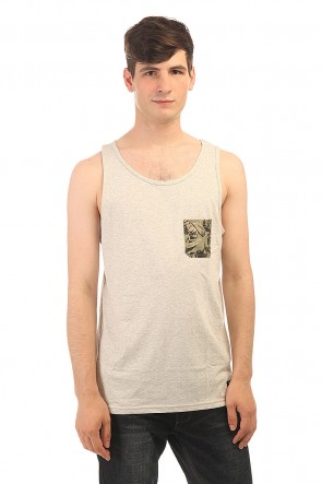 Майка DC Contra Tank Kttp Light Heather Grey, 1152484,  DC Shoes, цвет серый