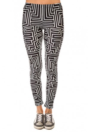 Леггинсы женские Look The Maze Black/White, 1137587,  Look, цвет белый, черный