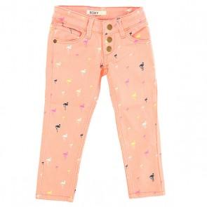 Джинсы прямые детские Roxy Yellow Pant Big Pop Flamingo Com, 1142692,  Roxy, цвет розовый