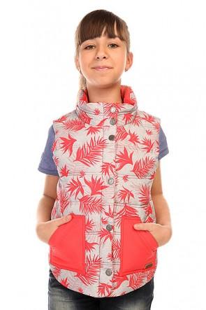 Жилетка детский Roxy Mellow Out G Jacket Indo Floral Her, 1134398,  Roxy, цвет красный, серый