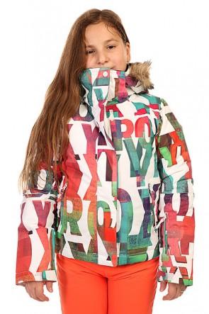 Куртка утепленная детская Roxy Jet Ski Girl Jk G Snjt Mazzy Rx Bright White, 1134410,  Roxy, цвет белый, мультиколор