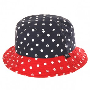 Панама женская Stussy Dot Bucket Hat Navy, 1147616,  Stussy, цвет белый, красный, синий