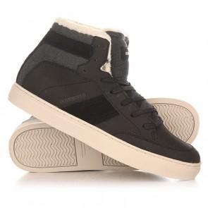 Кеды кроссовки утепленные Quiksilver Circuit Mid Black, 1154815,  Quiksilver, цвет серый, черный