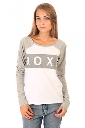 Лонгслив женский Roxy Love J Tees Heritage Heather, 1154868,  Roxy, цвет белый, серый