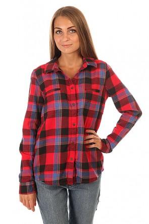 Рубашка в клетку женская Roxy Campay J Wvtp Moon Plaid Combo Sca, 1154876,  Roxy, цвет красный, синий, черный