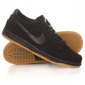 Кроссовки Nike Dunk Low Pro IW black/ black Gum/Light brown, 1154922,  Nike, цвет черный