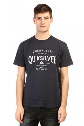 Футболка Quiksilver Clastegeeclaiit Tees Navy Blazer, 1139588,  Quiksilver, цвет синий