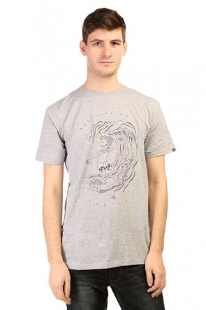 Футболка Quiksilver Claste Radicals Tees Athletic Heather, 1139592,  Quiksilver, цвет серый